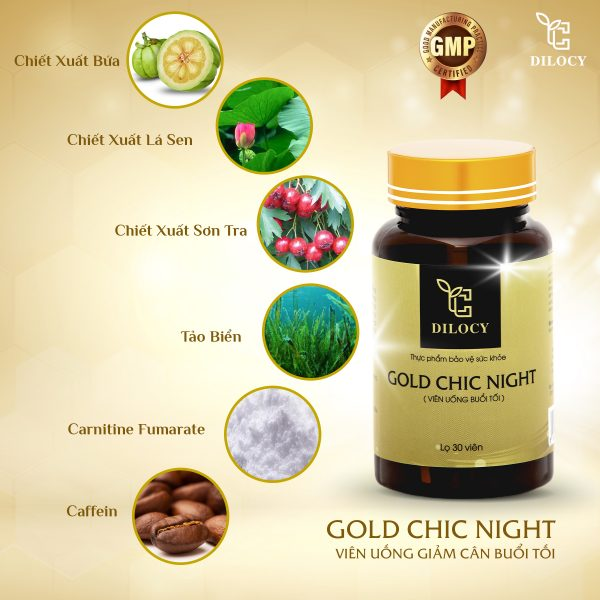 Dilocy Gold Chic Night
